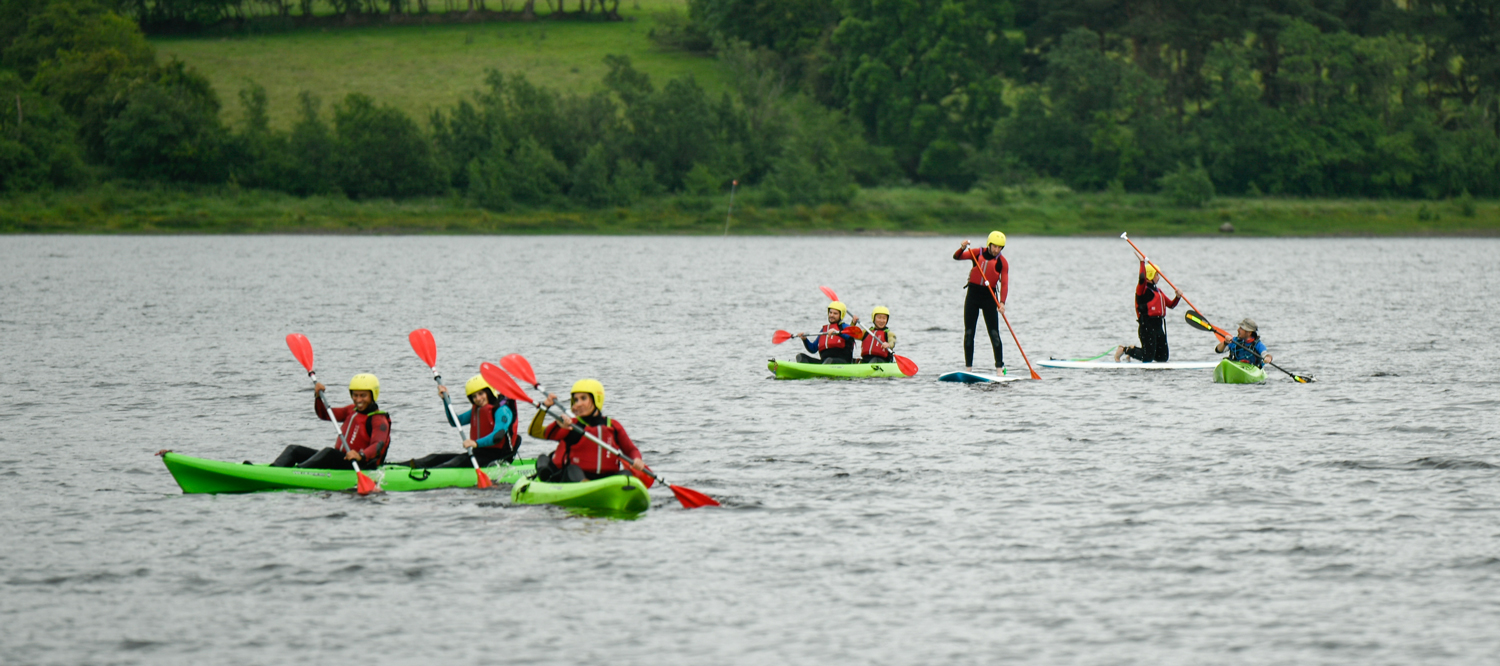 Kayaking and stand up paddle boarding on Blessington lake