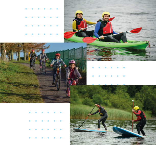 Outdoor Sports - Kayiking, family bike hire and Standup board paddling
